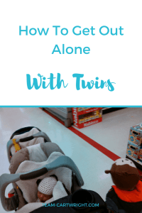 Are you intimidated by the idea of going out alone with your twins? Not sure how to do it? Here are the tips you need. How to get out alone with twins. #twins #leavethehouse #twinmom #newborn