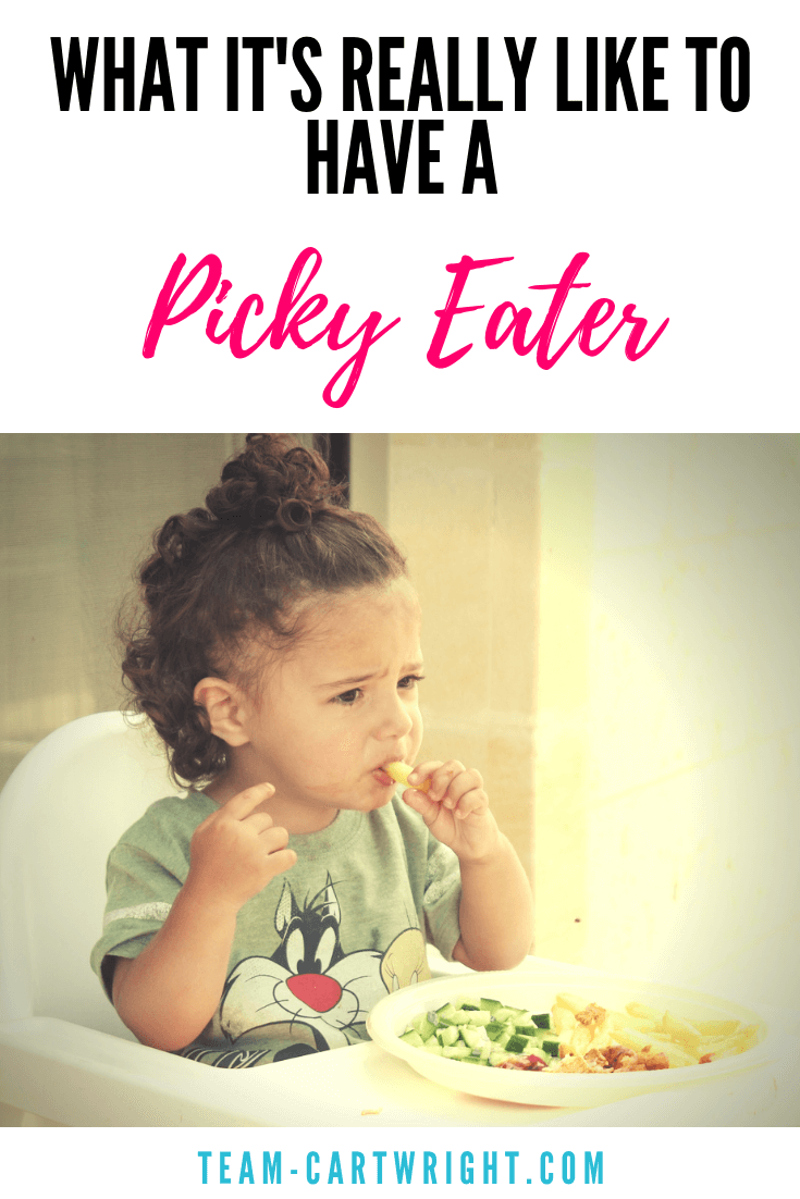 Want to know what life with a picky eater is like? It's tough. You know what doesn't help? Everyone's unwelcome comments. Here are the worst things to say to a mom of a picky eater and what you can say. #pickyeater #realmom #mom #toddler #preschool #kid #eatinghabits #health #healthyeating #discipline Team-Cartwright.com