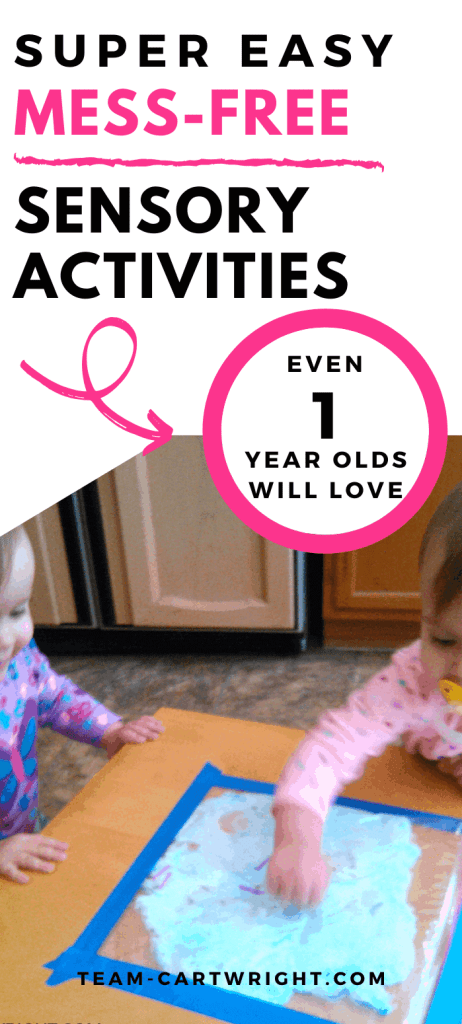 Easy Mess Free Sensory Acivities even 1 year old will love