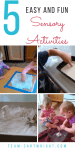 5 easy and fun sensory STEM activities perfect for toddlers and preschoolers. Introduce science topics and let kids explore. #sensory #STEM #activities #science #toddler #preschool #learning Team-Cartwright.com