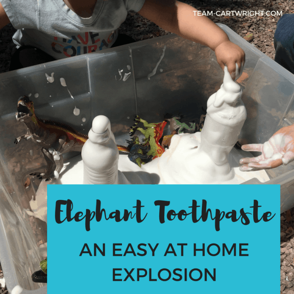 Elephant Toothpaste: An Easy At Home Explosion