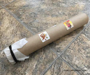 How to make a musical instrument out of paper towel roll