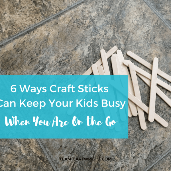 6 Ways Craft Sticks Can Keep Your Kids Busy When You Are On The Go