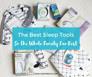 Sleep is important for everyone! Here are the best sleep tools to help baby sleep, and the whole family rest. #newbornsleep #babysleep #sleepprops #babywise #sleeptools #sleeptips Team-Cartwright.com