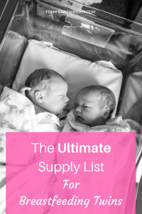 Must-have supplies for breastfeeding twins. Here is everything you will need to get to be ready to nurse your twins. Breastfeeding Twins | Breastfeeding Supplies | Nursing Gear | Feeding Twins #breastfeeding #breastfeedingtwins #breastfeedingsupplies #supplies #nursingpillow #newborntwins Team-Cartwright.com