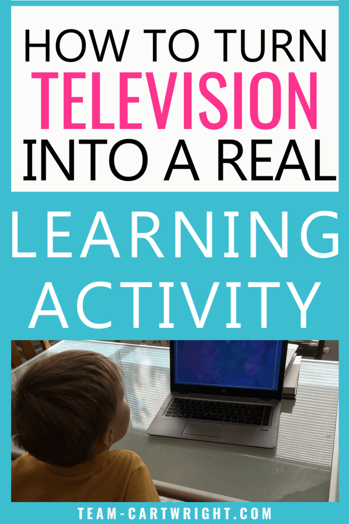 How to turn television into a real learning activity