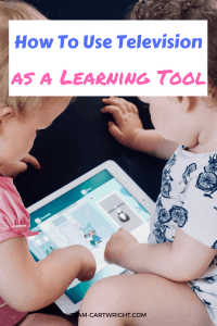 Using television as a learning activity. TV can be used to learn and interact with your child in those times when you just need to rest. #learningactivity #momwin #momlife #pregnancytip #pregnantwithatoddler #toddlerlearning #preschoollearning #noprepactivity Team-Cartwright.com