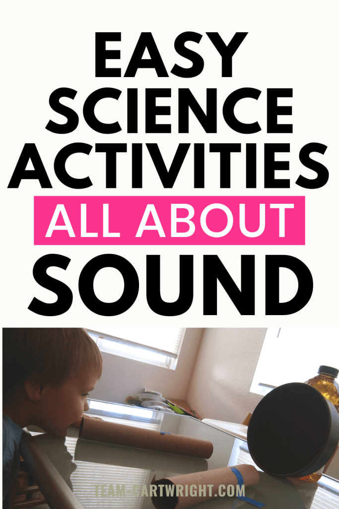 Easy Science Activities all about Sound with picture of a homemade echo demonstration