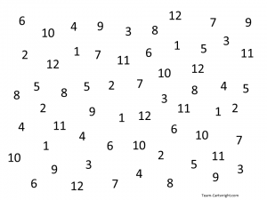 Simple number search activity to teach number sense. Perfect for toddlers and preschoolers. #learning #activity #number #sense #counting #preschool #toddler Team-Cartwright.com