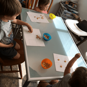 Teach your children number sense with 5 easy and fun activities. Giggles and learning ahead! #learning #activity #preschooler #number #sense #counting #addition #subtraction Team-Cartwright.com