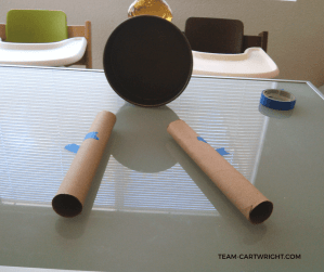Simple Sound Science Activities! Learn how echoes are made with paper towel tubes and a cake pan. Easy sound fun! #science #STEM #sound #preschool #toddler #learning #activity Team-Cartwright.com