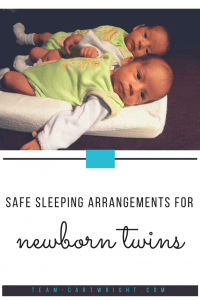 Safe Sleeping Arrangements for Newborn Twins. Sleep options to keep your twins safe and help everyone sleep. #newborntwins #twinsleep #babytwinsleep #newborntwinsleep #twinnaps #twinnightsleep #twintips #twinhacks #twinbassinet #twincribs #twinnursery Team-Cartwright.com