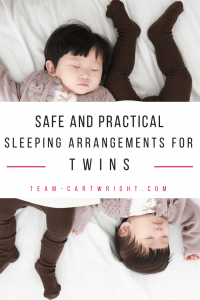 Safe and practical twin sleeping arrangements. The best bassinets and crib set ups for your needs. #twinsleep #twintips #newborntwins #infanttwins #twinnaps #twinbassinet #twinnursery #twincrib #twinmomtip #twinmomhack #twinsafety #sleepsafety Team-Cartwright.com