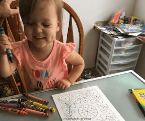 Learn all the benefits coloring has for children's physical and emotional development. Plus free coloring pages to print! #coloring #learning #activity #printable #free #development #toddler #preschool #kids Team-Cartwright.com