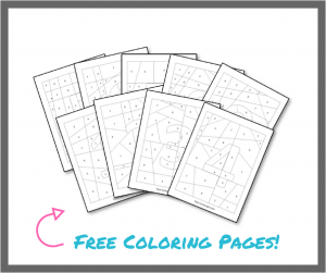 Free coloring worksheets to boost number sense! #free #coloring #printables #toddler #preschool #number #sense #math Team-Cartwright.com