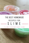 Find the best homemade slime recipes. Butter slime, glitter slime, color changing slime, and more. And learn the science behind the slime! #slime #recipes #glitter #butter #magnetic #science #stem #sensory #activity Team-Cartwright.com