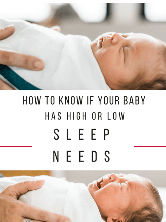 How to know if your baby has high or low sleep needs. #baby #sleep #babywise Team-Cartwright.com