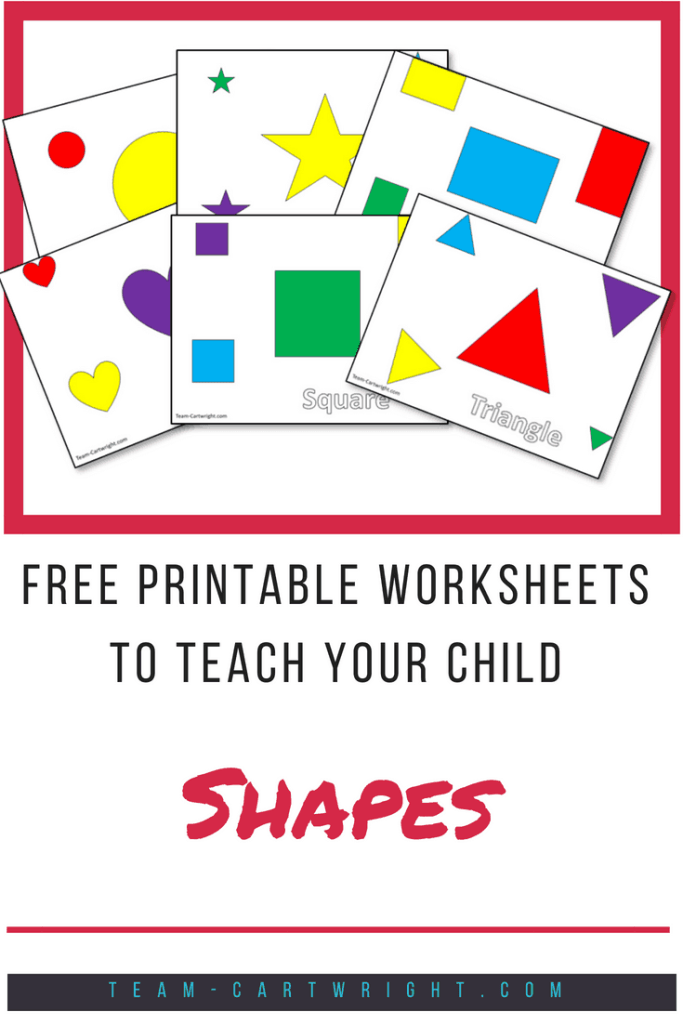 Free printables to help your child learn shapes! Shapes are the building blocks of literacy and math skills. Enjoy these free worksheets! #free #printables #shapes #learning #activity #toddler #preschooler Team-Cartwright.com