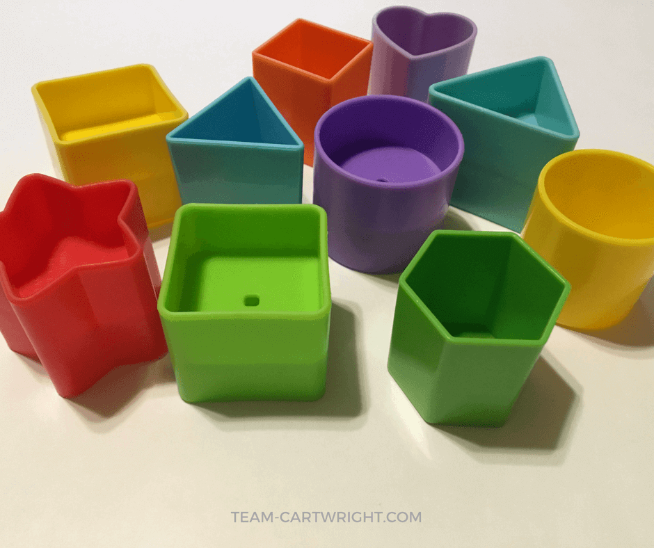 Learn why teaching toddlers and preschoolers shapes is so important, plus get some free printables to make learning fun! #shapes #learning #activity #toddler #preschool #STEM #development #printable Team-Cartwright.com