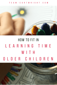 As kids get older they get busier! But learning time is too important to ignore. Here is how to fit that valuable learning time into your kid's busy schedule. #learning #time #activity #schedule #kids #babywise Team-Cartwright.com