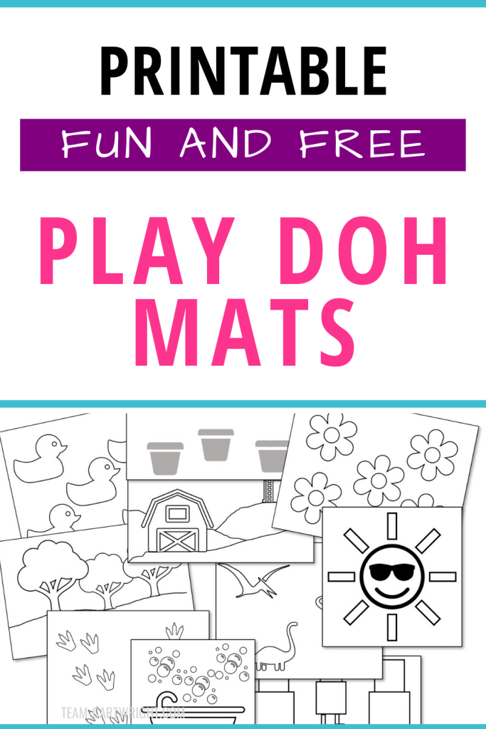 Free printable play doh mats for toddlers and preschoolers