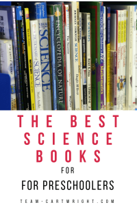 The very best STEM books for toddlers and preschoolers! Get over 175 book ideas to get your kids into science. #science #STEM #preschool #toddler #books #sciencebooks #STEMbooks #preschoolbooks Team-Cartwright.com