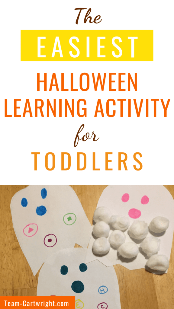 The easiest Halloween learning activity for toddlers