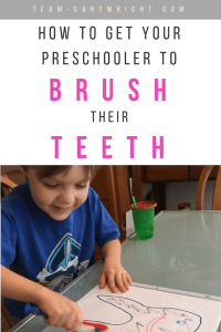 Tooth brushing activities for kids! Learn fun and easy ways to help your child overcome fear and brush their teeth. Plus get a free printable! #toothbrushing #brushteeth #toddler #learningactivity #preschool #oralhygieneforkids #fearofbrushingteeth Team-Cartwright.com