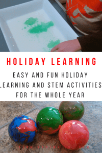 Holiday STEM and learning activities. Super fun learning games, activities, and science experiments for the whole year. #holiday #STEM #science #learningactivities #christmas #easter #stpatricksday #fall #halloween Team-Cartwright.com