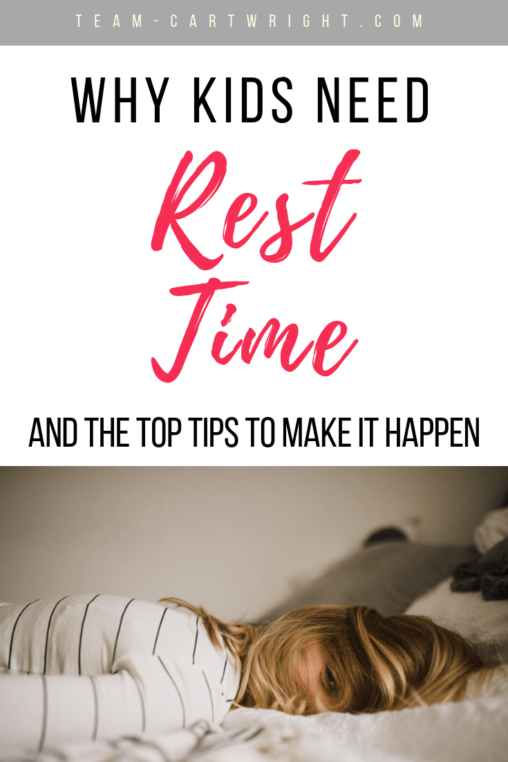 Think because your child is done napping they are done with quiet time?  Not a chance!  When nap time ends it is time for rest time. Learn why rest time is beneficial for the whole family, when kids stop napping, and how to implement this new time. #RestTime #WhenDoKidsStopNapping #NapTime #QuietTime #BabywiseRestTime #Babywise #RestTimeTips #QuietTime #ToddlerRestTime Team-Cartwright.com