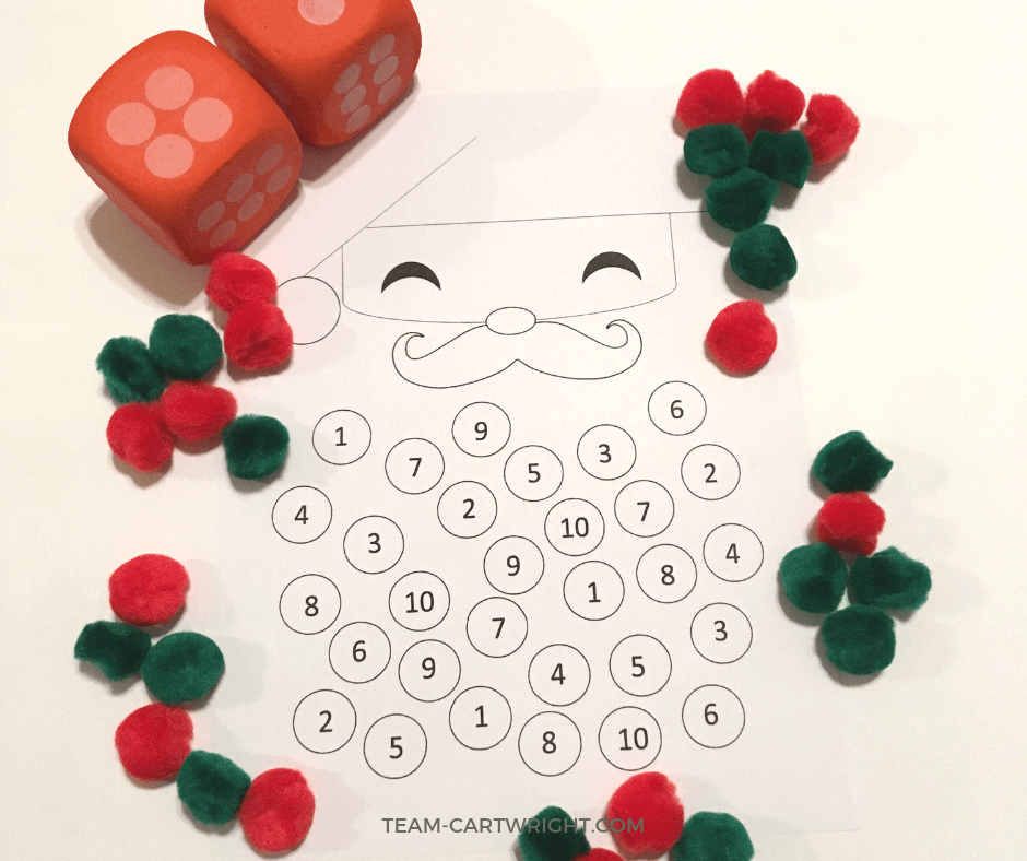 Christmas Counting Worksheet: Santa Math Fun! - Team Cartwright