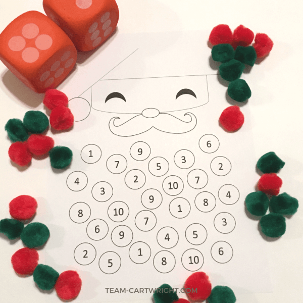Christmas Counting Worksheet: Santa Math Fun!