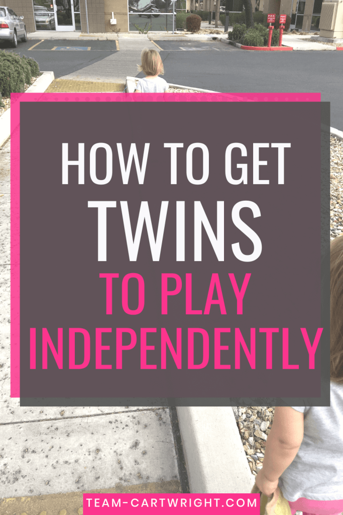 How To Get Twins to Play Independently tips for toddler twins