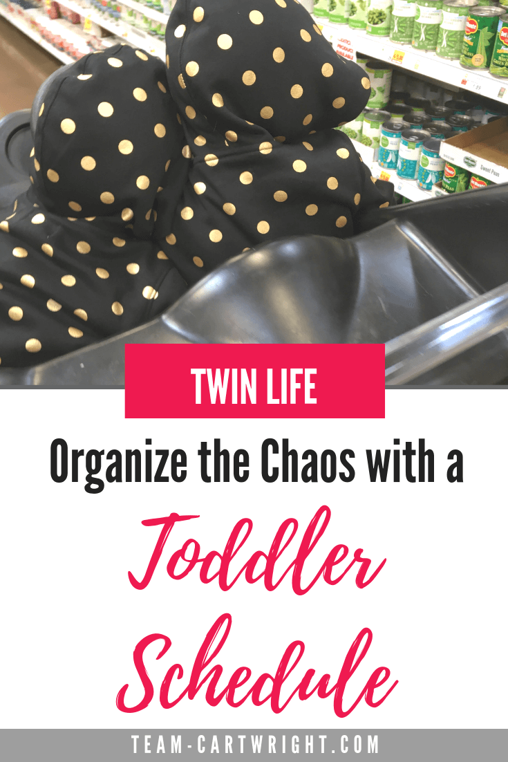 Twin life can be crazy. Tame the chaos with a solid schedule. Here is a sample schedule for 2-year-old twins. #SampleScheduleTwins #ToddlerTwins #TwinSchedule #BabywiseTwins #ToddlerRoutine #TwinNaps Team-Cartwright.com