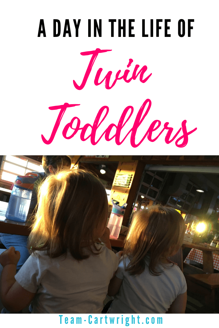 Toddler twins thrive on a schedule as much as baby twins. Sample Schedules for toddler twins to help our 2-year-olds get the play time, rest, and fun they need. #Twins #TwinLife #TwinTips #ToddlerTwins #TwinSchedule #BabywiseTwins #BabwiseToddler Team-Cartwright.com
