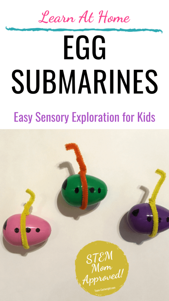 How to make egg submarines sensory activities for kids