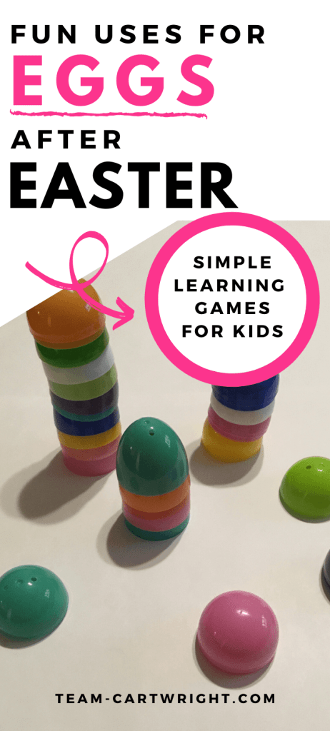 Fun uses for plastic easter eggs after easter for kids