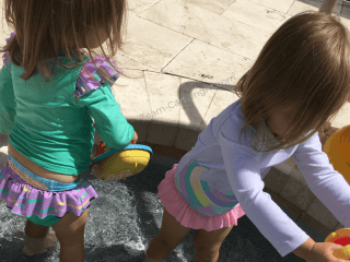 picture of toddler twins swimming