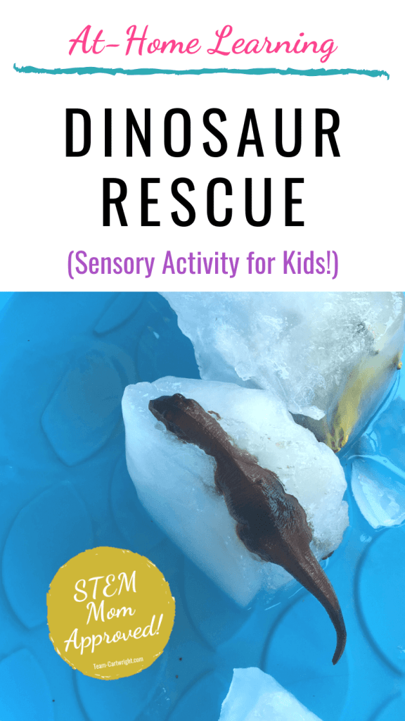 Dinosaur rescue easy sensory activity for kids