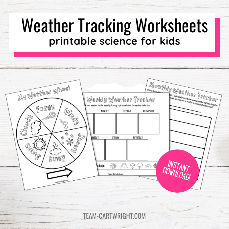 weather tracking worksheets for kids