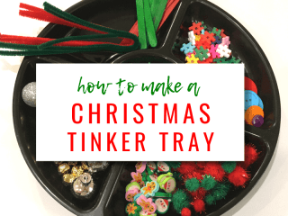 How To Make a Christmas Tinker Tray