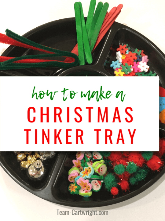 How To Make a Christmas Tinker Tray