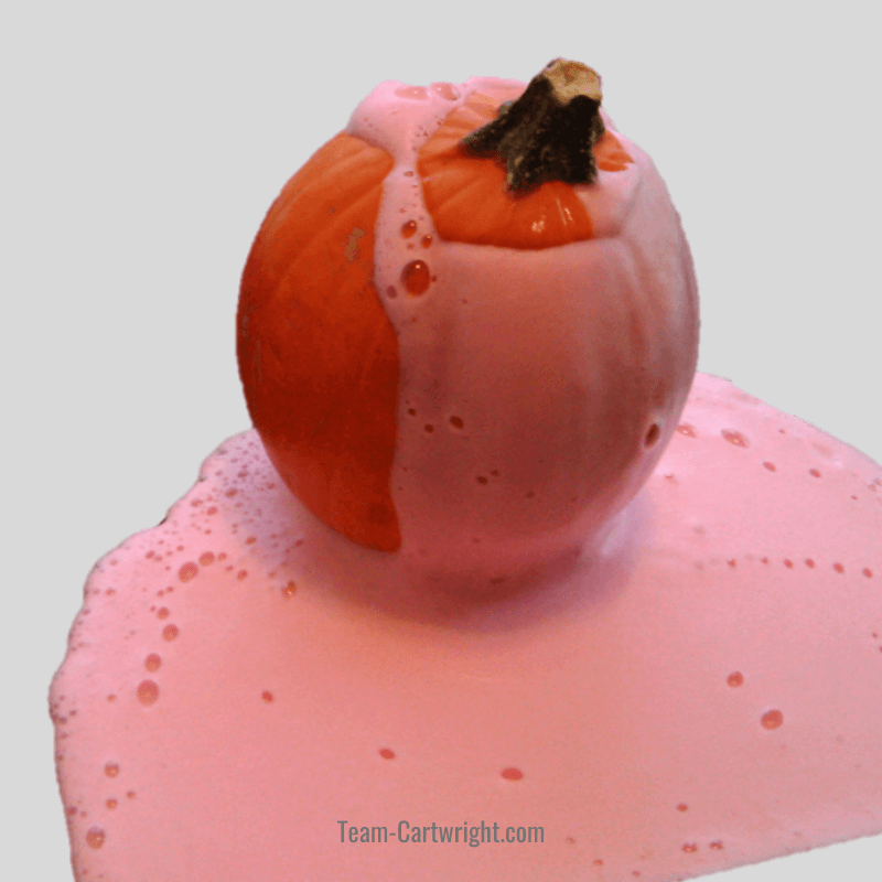 picture of oozing pumpkin STEM activity