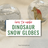 Dinosaur Snow Globe: A Unique DIY Holiday Craft