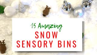 Snow Sensory Bins: Must Do Winter Activities for Kids