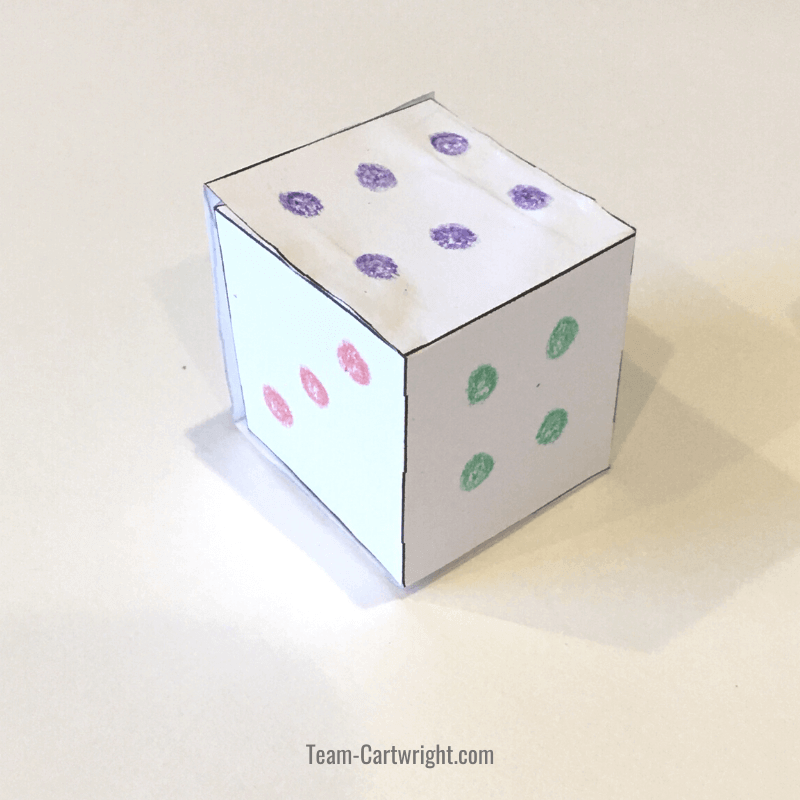 picture of diy paper dice