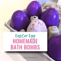 DIY Easter Egg Bath Bombs for Kids