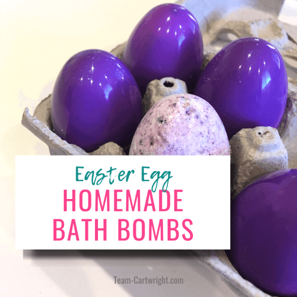DIY Easter Egg Bath Bombs for Kids