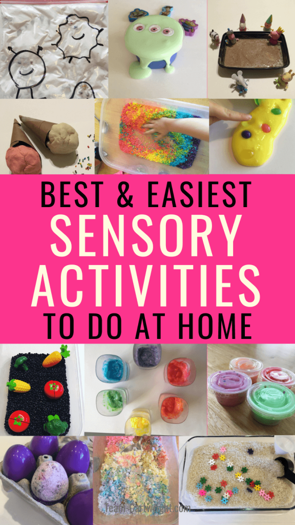 Best and Easiest Sensory Activities to Do At Home