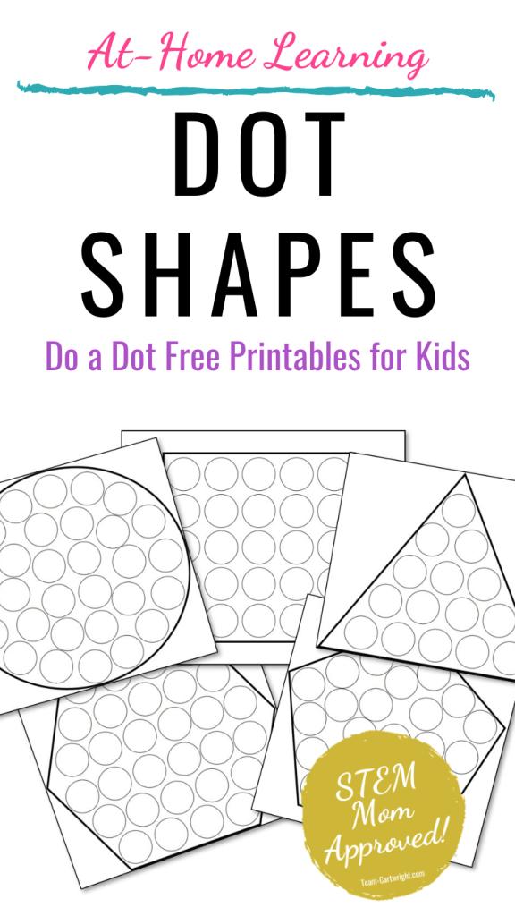 Free printable do a dot shape worksheets for kids